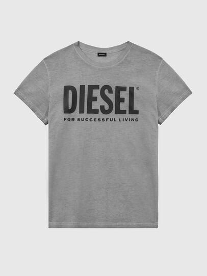 Diesel - T-DIEGO-LOGO, Gris oscuro - Camisetas - Image 1