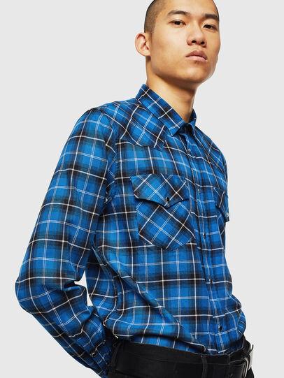 Diesel - S-EAST-LONG-N, Azul - Camisas - Image 4