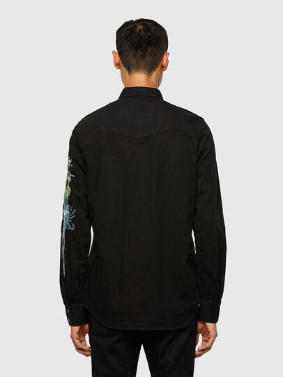Diesel - D-EAST-P1-SP, Negro - Camisas de Denim - Image 2