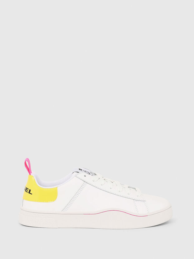 S-CLEVER LOW LACE W, Blanco/Amarillo - Sneakers
