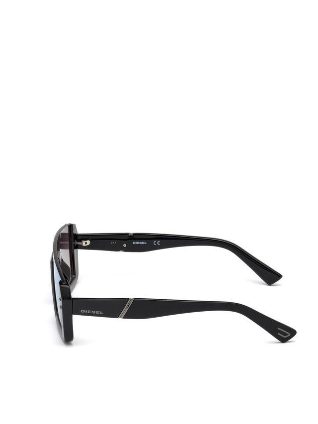 Diesel - DL0248, Negro Brillante - Gafas de sol - Image 3