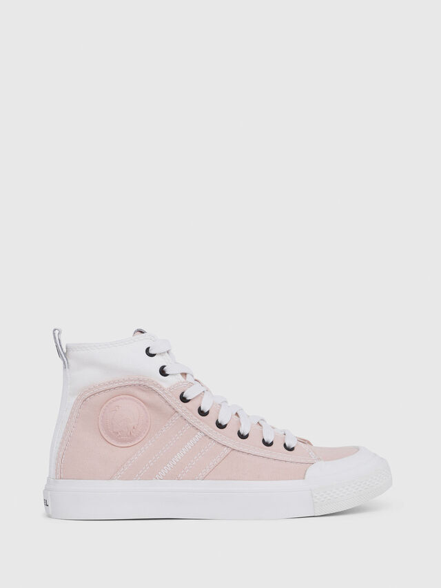 Diesel - S-ASTICO MID LACE W, Rosa/Blanco - Sneakers - Image 1