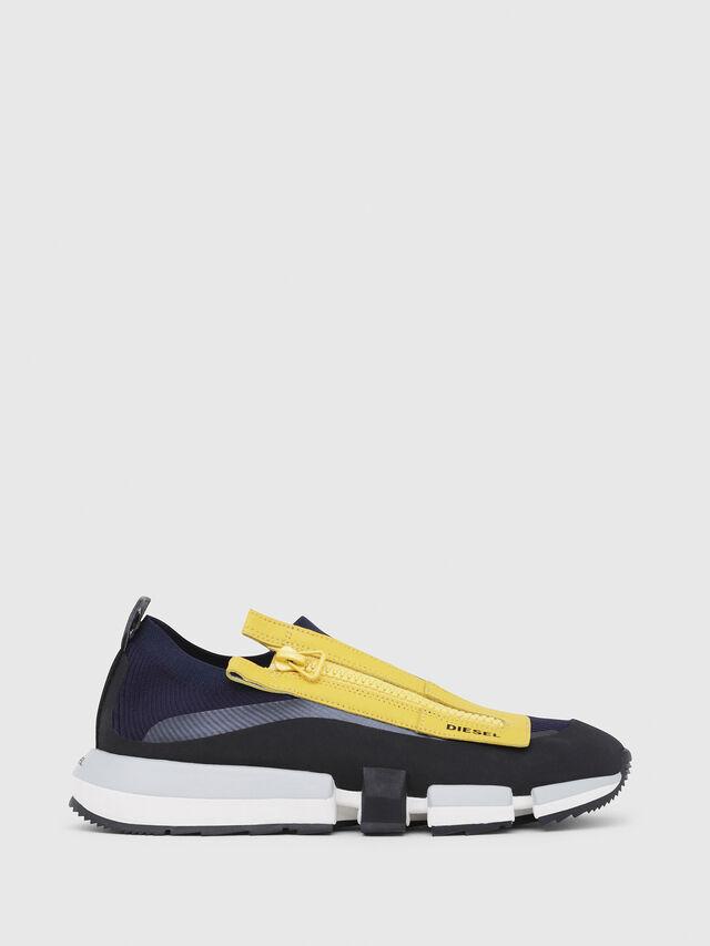 Diesel - H-PADOLA LOW ZIP, Azul/Amarillo - Sneakers - Image 1