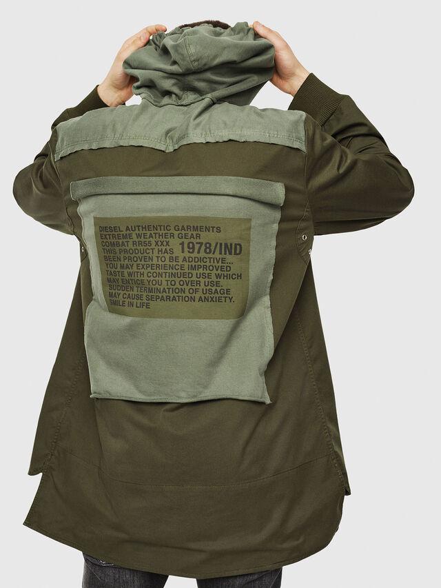 Diesel - S-EIKU, Verde Militar - Camisas - Image 2