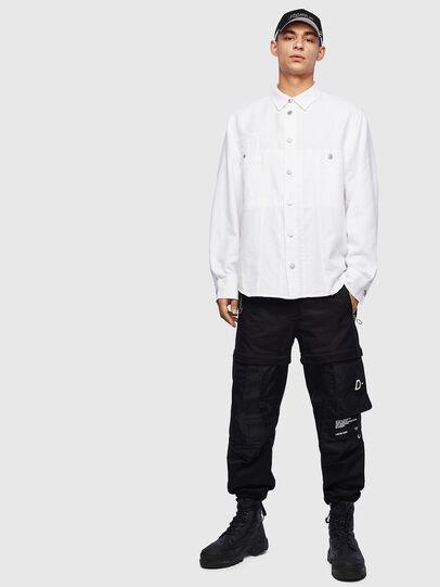 Diesel - D-FLOX, Blanco - Camisas de Denim - Image 6