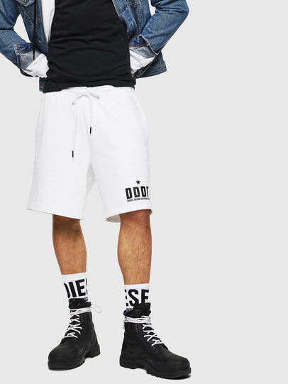 Diesel - P-ALF-SHORT, Blanco - Shorts - Image 1