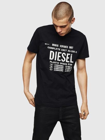 Diesel - T-DIEGO-B6, Negro - Camisetas - Image 1