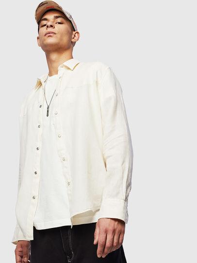 Diesel - S-PLAN-B, Blanco - Camisas - Image 5