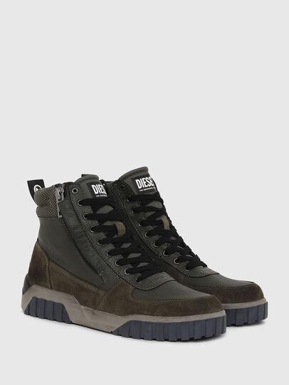 Diesel - S-RUA MID, Verde Oscuro - Sneakers - Image 2