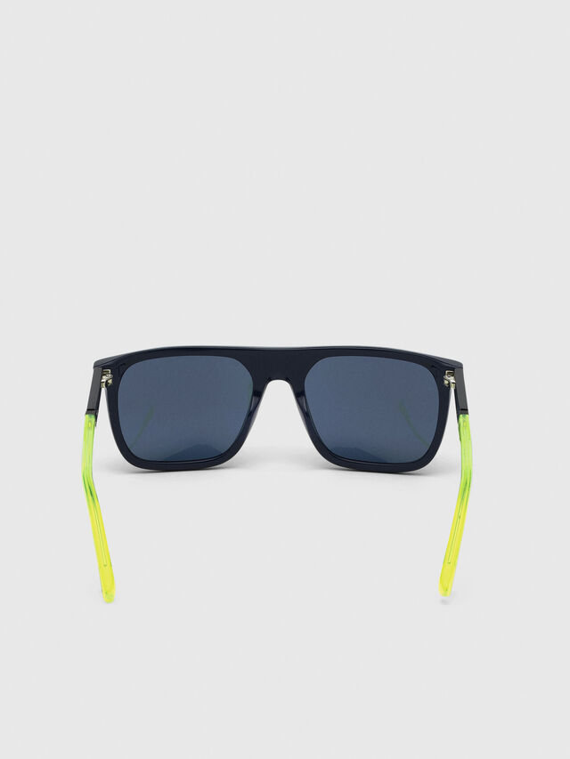 Diesel - DL0299-F, Azul/Amarillo - Gafas de sol - Image 4