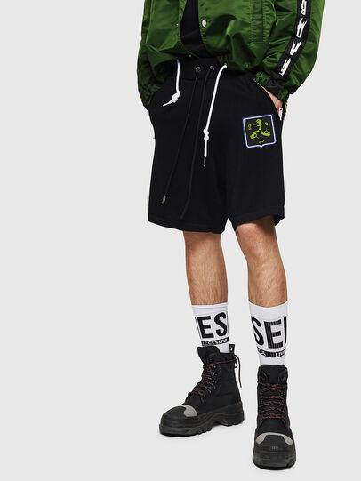Diesel - K-ROB, Negro - Shorts - Image 1