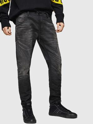 Krooley JoggJeans 069GN, Negro/Gris oscuro - Vaqueros