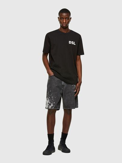 Diesel - T-JUST-E10, Negro - Camisetas - Image 4