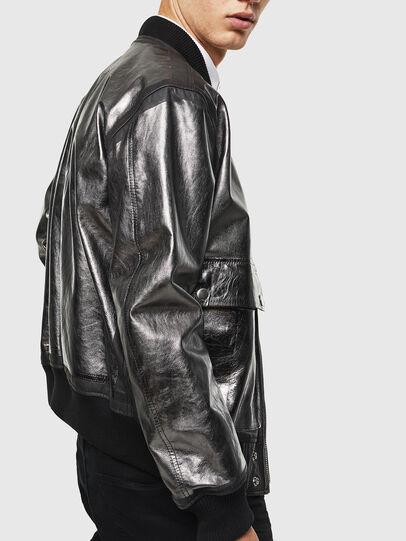 Diesel - L-STEWARD-FOIL, Negro - Chaquetas de piel - Image 3