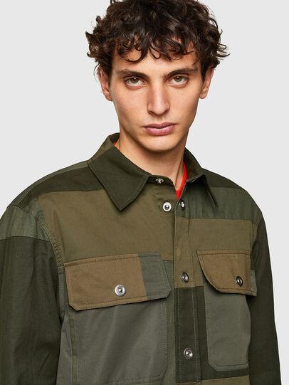 Diesel - S-HORUS, Verde Oliva - Camisas - Image 3