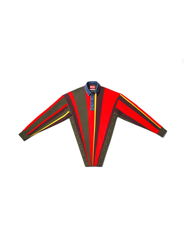 Diesel - GMPL01, Verde/Rojo - T- Shirts - Image 1
