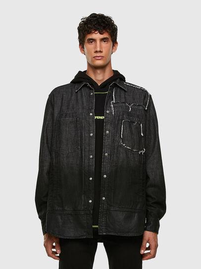 Diesel - D-NESKY, Negro - Camisas de Denim - Image 5