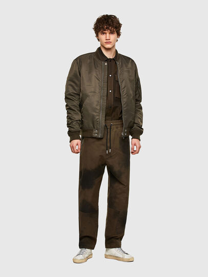 Diesel - P-HILL, Verde Militar - Pantalones - Image 5