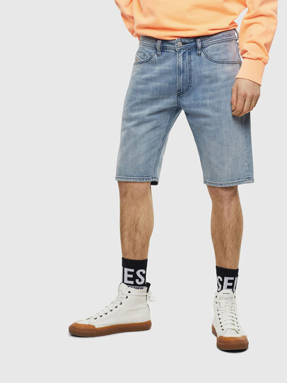 Diesel - THOSHORT, Azul Claro - Shorts - Image 1