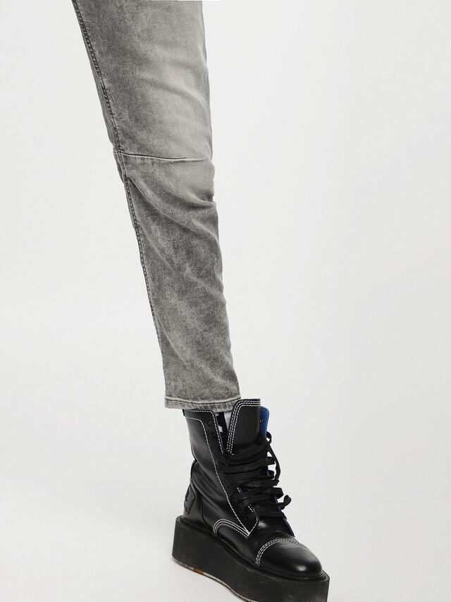 Diesel Fayza JoggJeans 0855B, Gris Claro - Vaqueros - Image 5