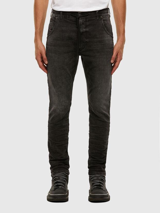 Krooley JoggJeans 009FZ, Negro/Gris oscuro - Vaqueros