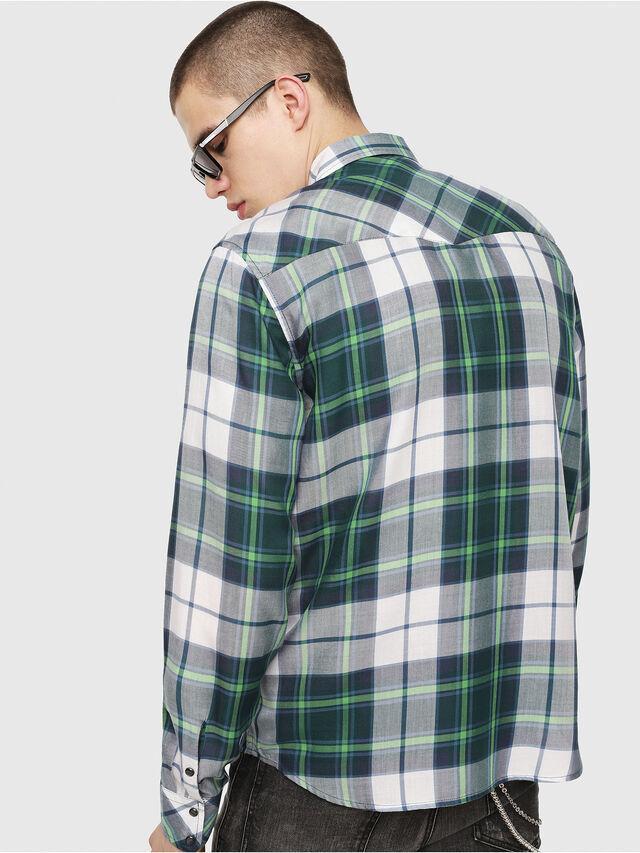 Diesel - S-EAST-LONG-F, Verde/Gris - Camisas - Image 2