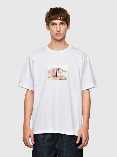Diesel - T-TUBOLAR-B2, Blanco - Camisetas - Image 1