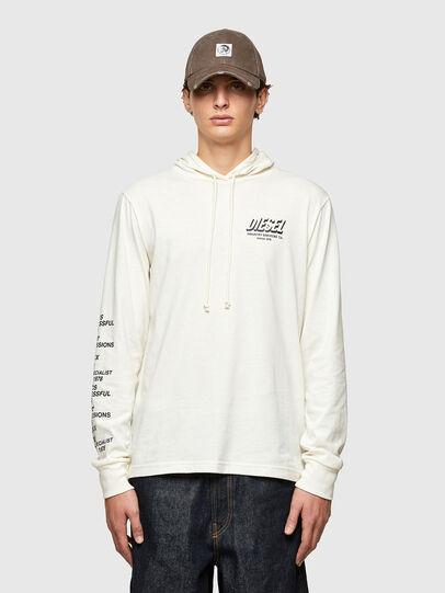 Diesel - T-JUST-LS-HOOD-SLITS, Blanco - Camisetas - Image 1