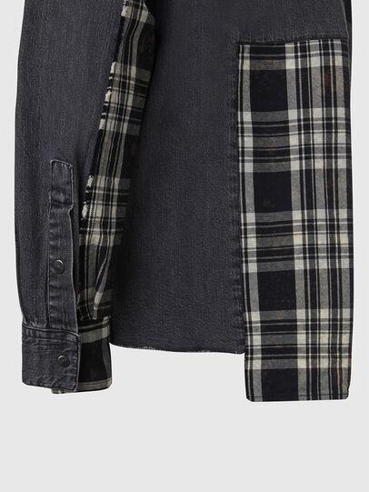 Diesel - D-FINLY, Gris oscuro - Camisas de Denim - Image 4