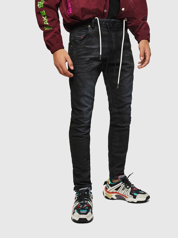 Krooley JoggJeans 069GP, Negro/Gris oscuro - Vaqueros