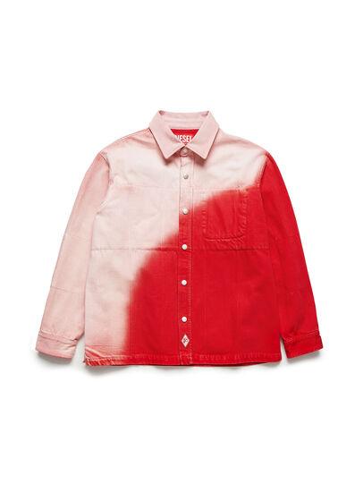 Diesel - GR02-B301, Rojo/Blanco - Camisas de Denim - Image 1