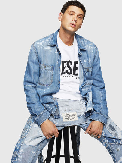 Diesel - D-FRED, Azul Claro - Camisas de Denim - Image 4