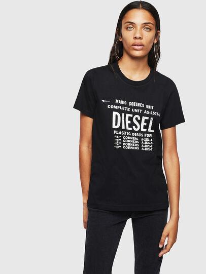 Diesel - T-SILY-ZF, Negro - Camisetas - Image 1