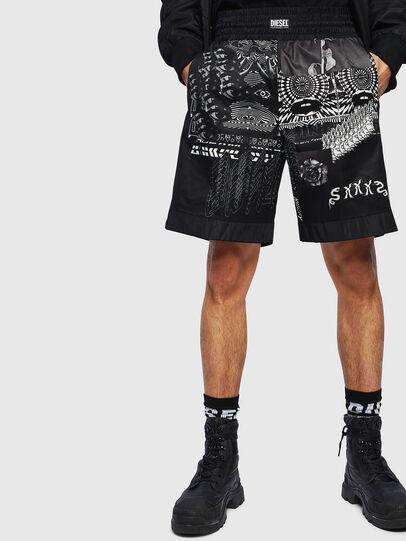 Diesel - P-KUMI-PRINT-A, Negro - Shorts - Image 1