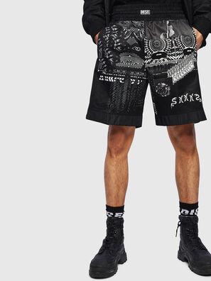 P-KUMI-PRINT-A, Negro - Shorts