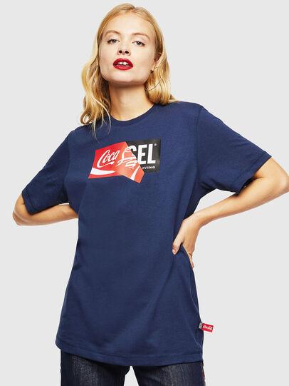 Diesel - CC-T-JUST-COLA, Azul Oscuro - Camisetas - Image 2