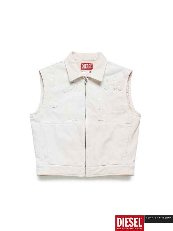 GR02-J303, Blanco - Chaquetas de denim