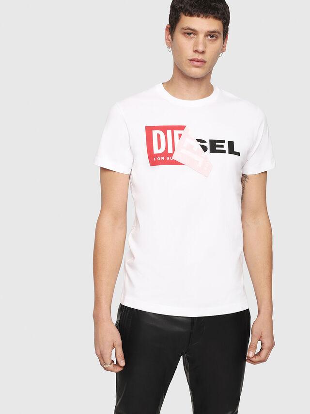 Diesel T-DIEGO-QA, Blanco - Camisetas - Image 1