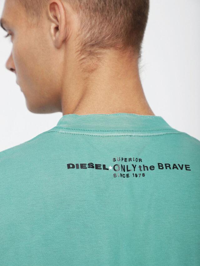 Diesel - T-JOEY-T, Verde Agua - Camisetas - Image 3