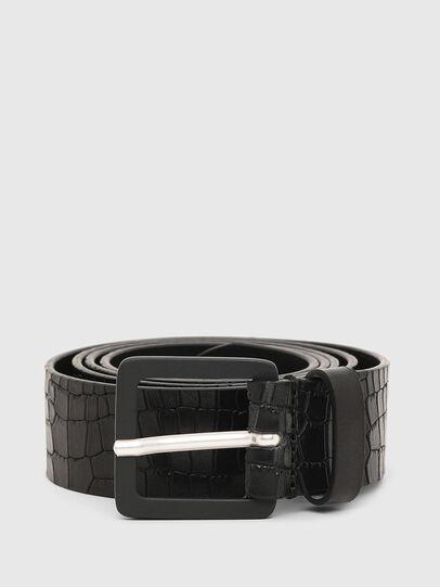 Diesel - B-CROCLE, Negro - Cinturones - Image 1