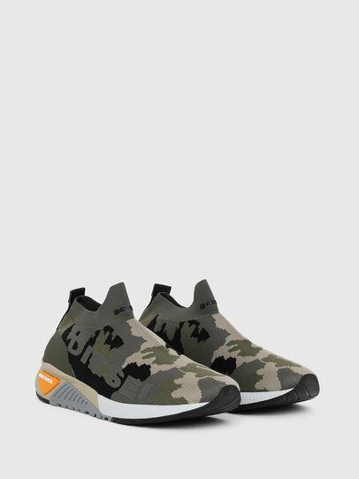 Diesel - S-KB ATHL SOCK II, Verde Camuflaje - Sneakers - Image 2
