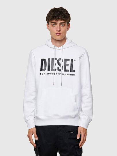 Diesel - S-GIRK-HOOD-ECOLOGO, Blanco - Sudaderas - Image 1