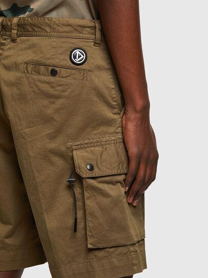 Diesel - P-APE, Verde Militar - Shorts - Image 4