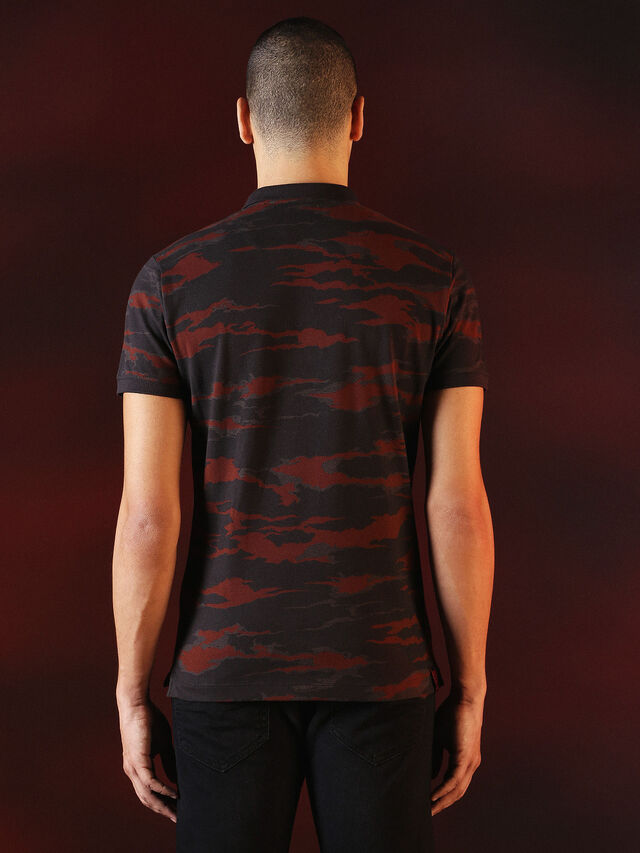 Diesel - DVL-POLO-SPECIAL COLLECTION, Rojo/Negro - Polos - Image 3