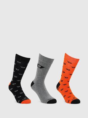 SKM-RAY-THREEPACK, Negro/Naranja - Calcetines