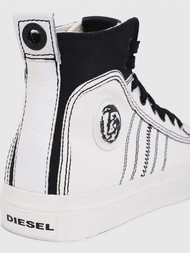 Diesel - S-ASTICO MID LACE, Blanco/Negro - Sneakers - Image 4