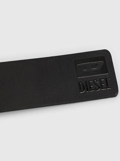 Diesel - B-DIVISION, Negro Brillante - Cinturones - Image 4