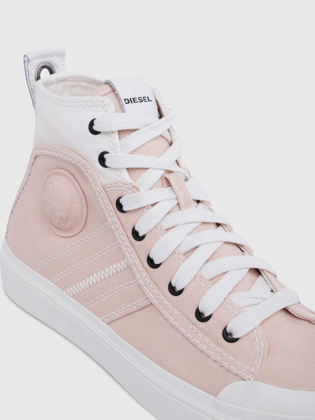 Diesel - S-ASTICO MID LACE W, Rosa/Blanco - Sneakers - Image 4