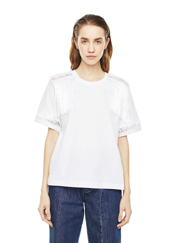 Diesel - TREENA, Blanco - Camisetas - Image 1