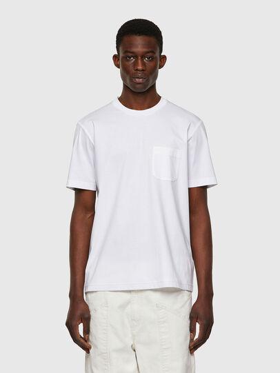 Diesel - T-JUST-WORKY, Blanco - Camisetas - Image 1